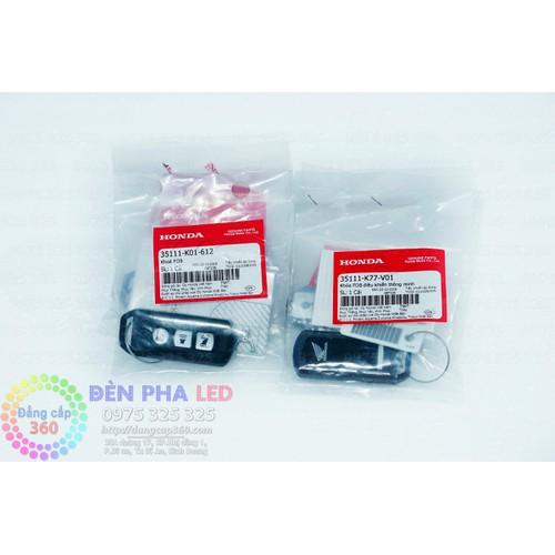 Remote trắng HONDA K77 - chìa khóa trắng - 3 nút-  SMK