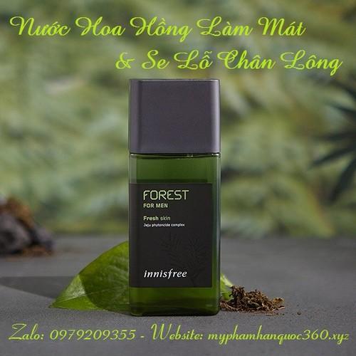 Nước Hoa Hồng Làm Mát & Se Lỗ Chân Lông  Innisfree. Forest For Men Fresh Skin