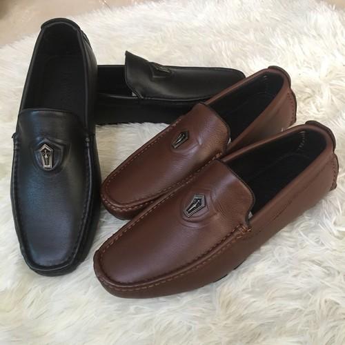 Giày mọi nam đế âm da bò thật BH 1 năm | giày nam | giày da nam | giày lười nam