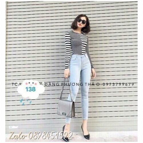 Quần jeans dài nữ xinh lung linh