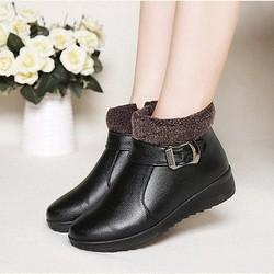Boots nữ cổ lông cao cấp