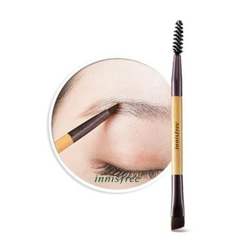 Cọ Vẽ Chân Mày Innisfree. Mini Dual Eyebrow Brush