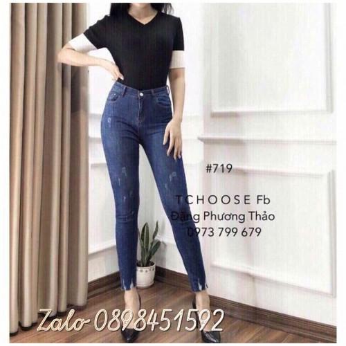 Quần jeans rách kiểu đẹp