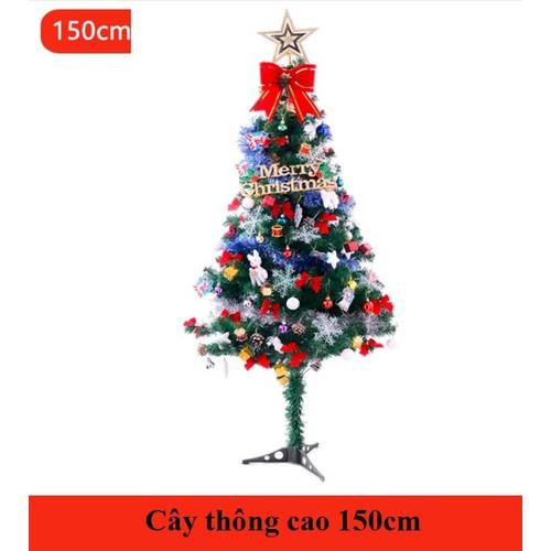 Cây thông noel 150cm nguyên bộ NE02-150