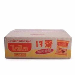 Thùng 30 gói mì chay WaiWai Thái lan