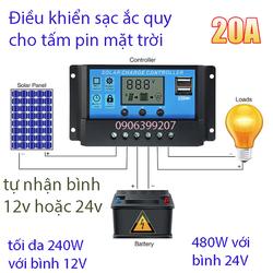 mạch sạc ắc quy cho pin mặt trời