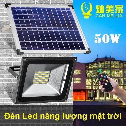 Bộ Đèn năng lượng mặt trời LED công suất 50W,nhôm và kính cường lực cao cấp chống va đập cực tốt