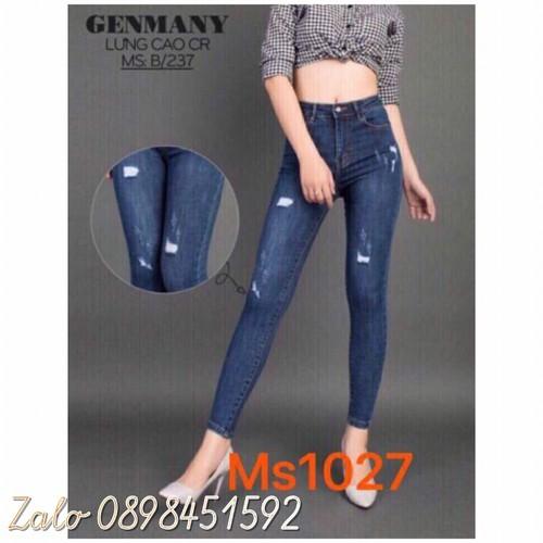 Quần jeans dài rách wash đẹp rẻ