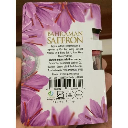 Mẫu thử Nhụy hoa nghệ tây Bahraman saffron