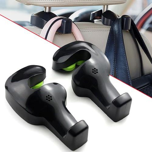 Bộ 02 móc treo đồ lưng ghế trước xe ô tô