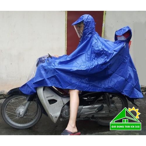 Áo mưa 2 đầu cao cấp vải dù có tay gương | Áo mưa có kính che mặt