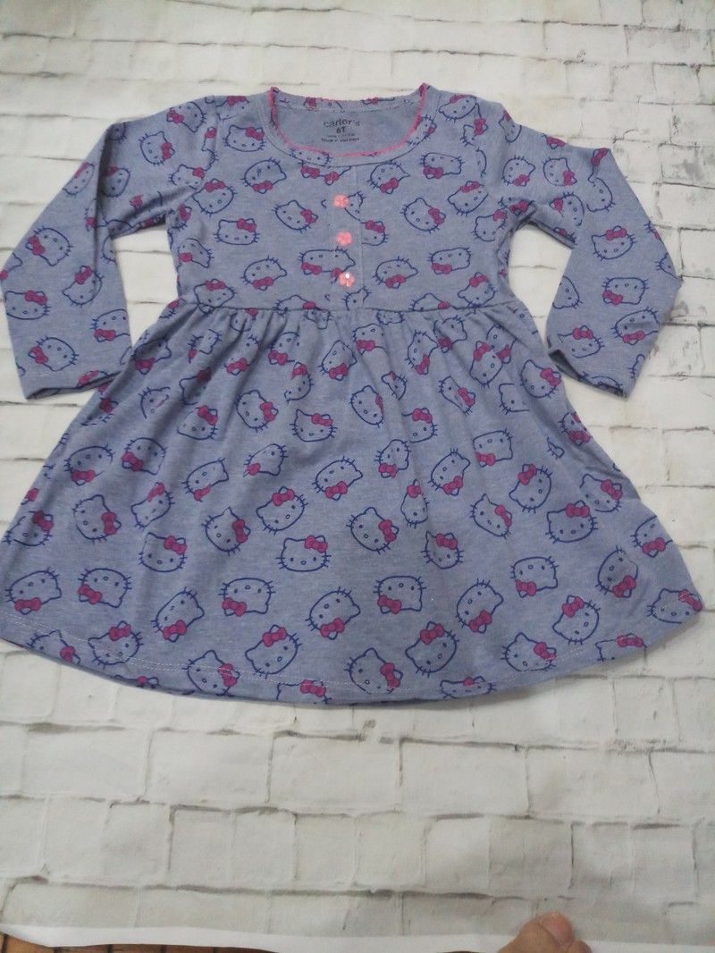 Sét 3 váy dài tay thu đông cho bé gái 2