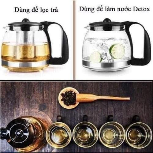 bộ ấm pha trà có lõi lọc