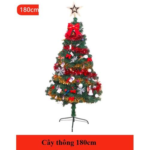 Cây thông noel 180cm nguyên bộ NE02-180