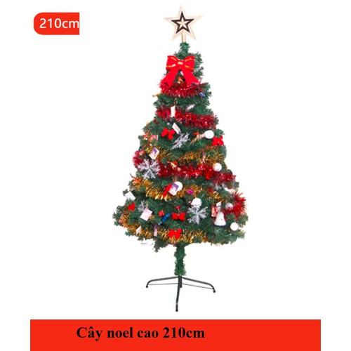 Cây thông noel 210cm nguyên bộ NE02-210