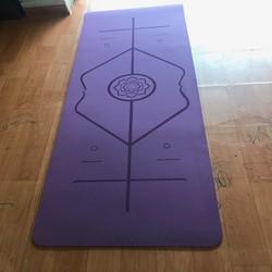 Thảm tập Yoga TPE Định tuyến 8mm Tặng túi đựng thảm
