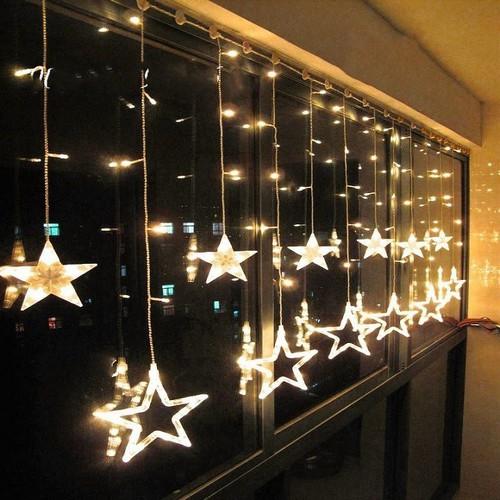Đèn LED Trang trí nháy hình Ngôi Sao dùng cho Noel, Quán cafe, sân vườn, nhà cửa