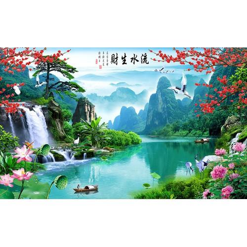 tranh phong cảnh- tranh gạch 3d