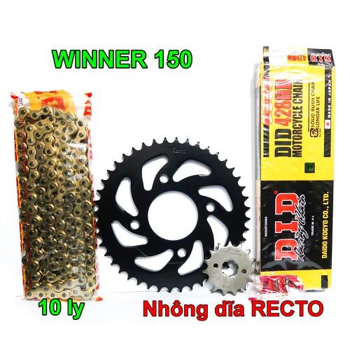 Sên DID vàng 10 ly, Nhông dĩa Recto cho Winner