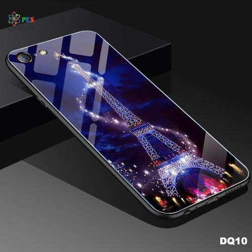 Ốp lưng Iphone 6 Plus, 6s Plus  in 3D hình tháp eiffel dạ quang mặt kính sáng bóng