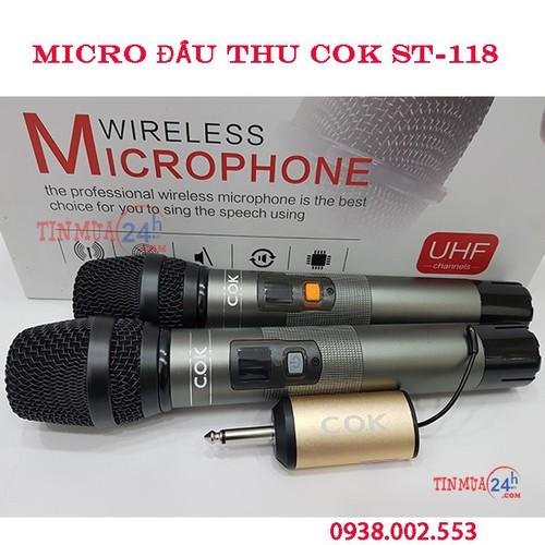 MICRO KARAOKE KHÔNG DÂY COK ST-118
