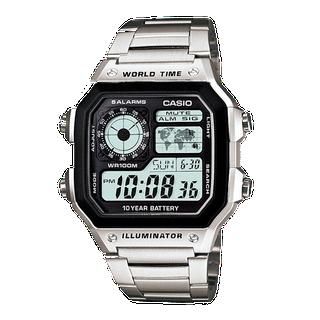 ĐỒNG HỒ CASIO PIN 10 NĂM AE-1200WHD-1A WORLDTIME - AE-1200WHD-1 thumbnail