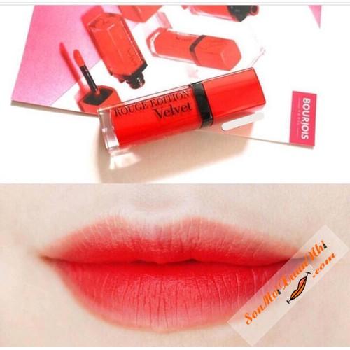 Son B.ourjois Rouge Edition V.elvet màu 20 cam pha đỏ hàng chuẩn mẫu mới nhất👄👄