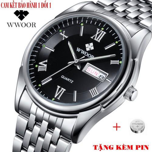 Đồng hồ nam wwoor 8802 tặng kèm pin dự phòng