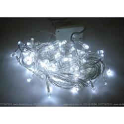 Dây đèn Nháy LED cao cấp 10 Mét, 100 bóng Trang trí Noel, Tết. Màu trắng