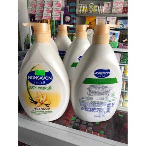 Sữa Tắm Monsavon Chiết Xuất Sữa và Hoa Vani 1000ml