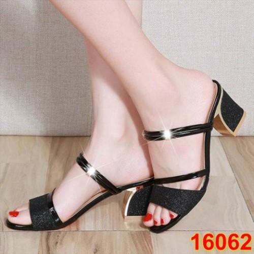 Sandal Gót Vuông H.Q
