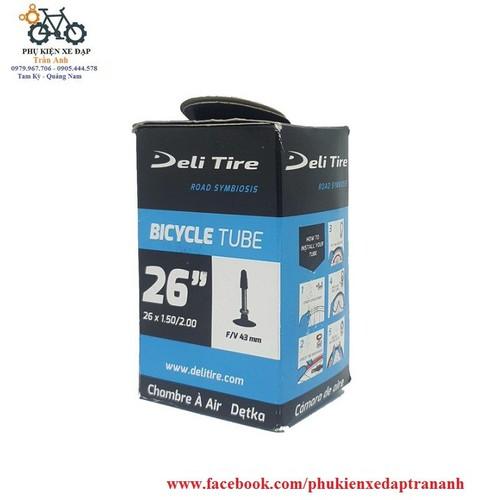 Ruột xe đạp Deli Tire 26x1.5-2.0 43mm Van Pháp - van xe đạp