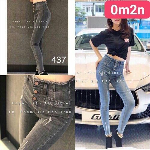 Quần jeans dài phá cách chất ngất