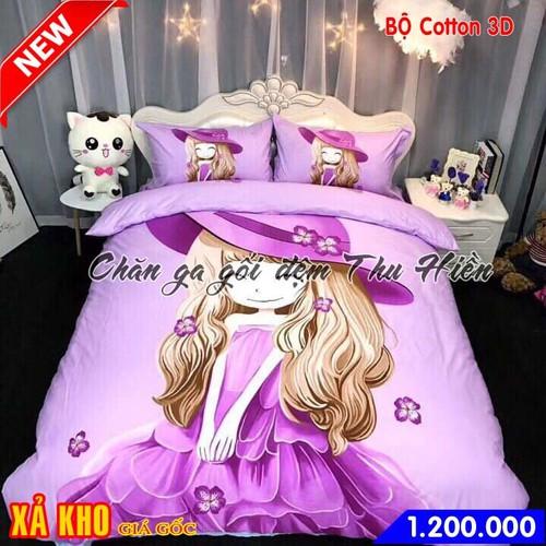 Bộ chăn ga gối cotton 3D cho bé gái dễ thương màu tím - 6616981 , 13287056 , 15_13287056 , 1200000 , Bo-chan-ga-goi-cotton-3D-cho-be-gai-de-thuong-mau-tim-15_13287056 , sendo.vn , Bộ chăn ga gối cotton 3D cho bé gái dễ thương màu tím