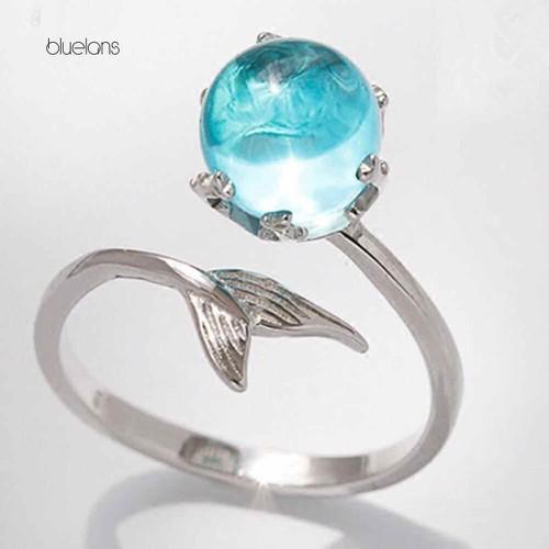Nhẫn đính đá xanh Ngọc Bích hình đuôi cá - 6636725 , 13307749 , 15_13307749 , 75000 , Nhan-dinh-da-xanh-Ngoc-Bich-hinh-duoi-ca-15_13307749 , sendo.vn , Nhẫn đính đá xanh Ngọc Bích hình đuôi cá