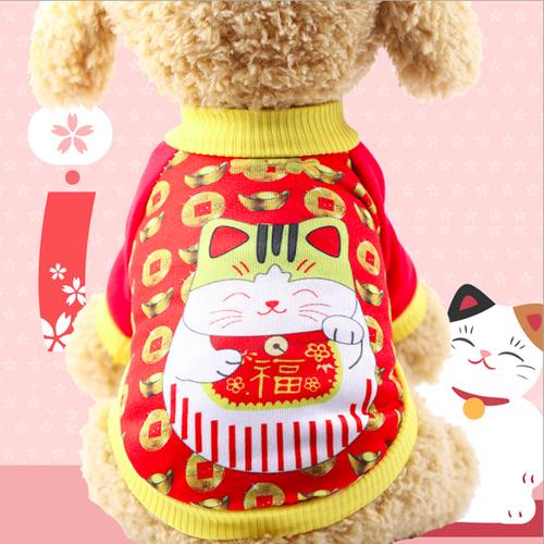 Áo chó mèo Mèo Thần Tài size XL