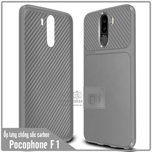 Ốp lưng Xiaomi Pocophone F1 chống sốc Carbon - Nhựa TPU dẻo - xám - 6645766 , 13318326 , 15_13318326 , 70000 , Op-lung-Xiaomi-Pocophone-F1-chong-soc-Carbon-Nhua-TPU-deo-xam-15_13318326 , sendo.vn , Ốp lưng Xiaomi Pocophone F1 chống sốc Carbon - Nhựa TPU dẻo - xám