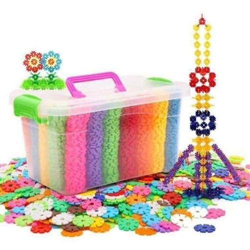 Bộ đồ chơi lắp ráp thẻ nhựa hoa tuyết 200 miếng cho bé