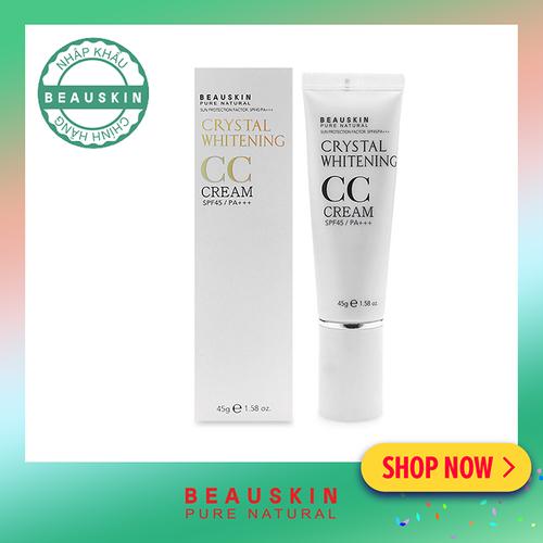 Kem nền làm trắng và tái tạo da Beauskin CC Cream Crystal Whitening 45ml