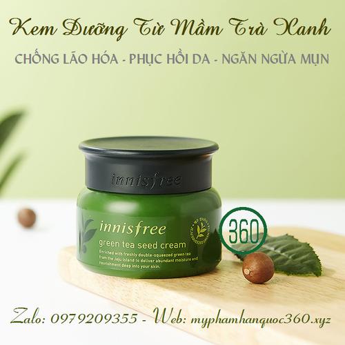 [Mẫu cải tiến 2018] Kem Dưỡng Từ Mầm Trà Xanh –Innisfree.Green Tea Seed Cream