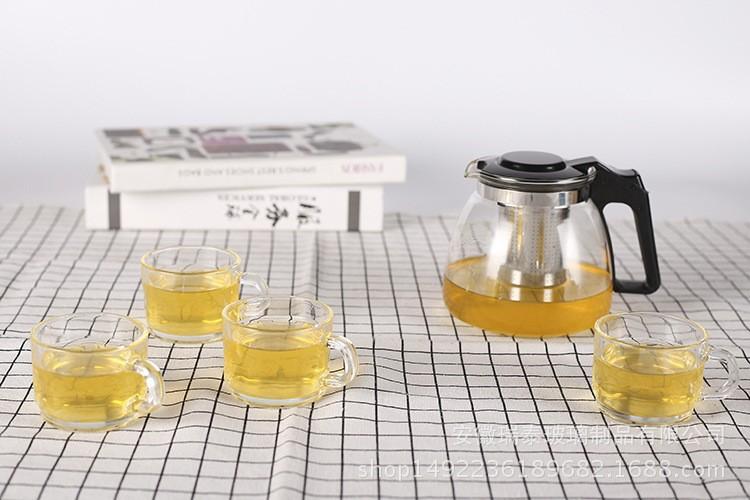 Bộ ấm pha trà thủy tinh có lỗi lọc quà tặng sang trọng 5