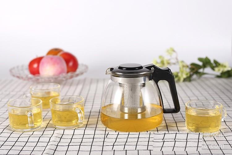 Bộ ấm pha trà thủy tinh có lỗi lọc quà tặng sang trọng 3