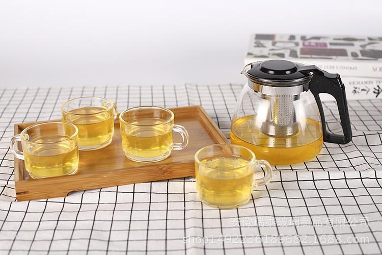 Bộ ấm pha trà thủy tinh có lỗi lọc quà tặng sang trọng 4