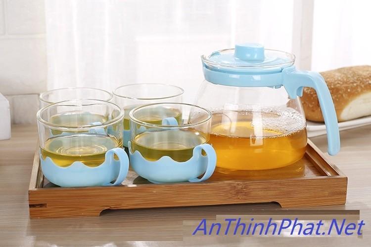 Bộ ấm pha trà thủy tinh hộp quà tặng sang trọng cho ngày Lễ Tết 6