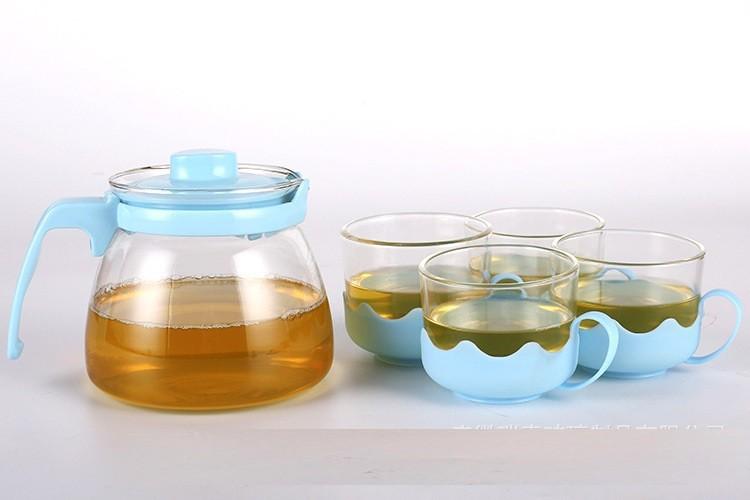 Bộ ấm pha trà thủy tinh hộp quà tặng sang trọng cho ngày Lễ Tết 5
