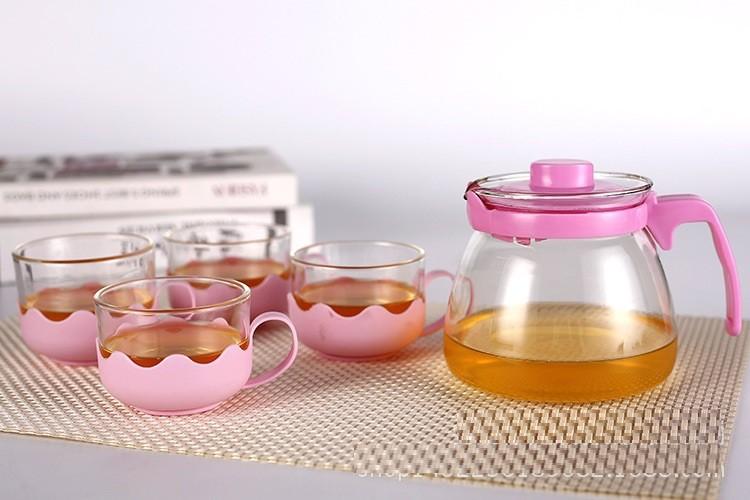 Bộ ấm pha trà thủy tinh hộp quà tặng sang trọng cho ngày Lễ Tết 2