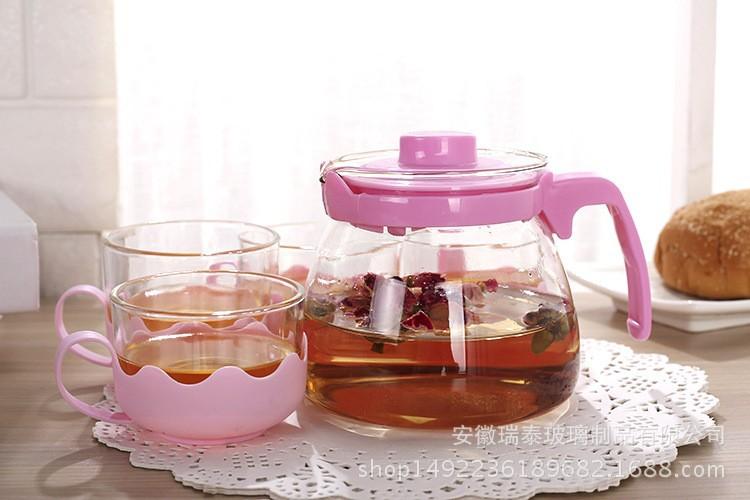 Bộ ấm pha trà thủy tinh hộp quà tặng sang trọng cho ngày Lễ Tết 3