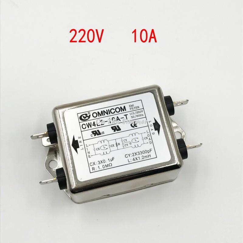 Bộ lọc nhiễu 1 pha 110 220V 10A loại to 2 bộ lọc 1