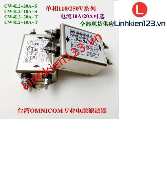 Bộ lọc nhiễu 1 pha 110 220V 10A loại to 2 bộ lọc 2