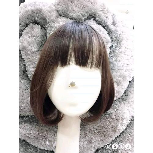 tóc giả nữ ngang vai đầu vic cúp tặng kèm lược